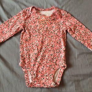 10/$10 Long Sleeve Floral Bodysuit